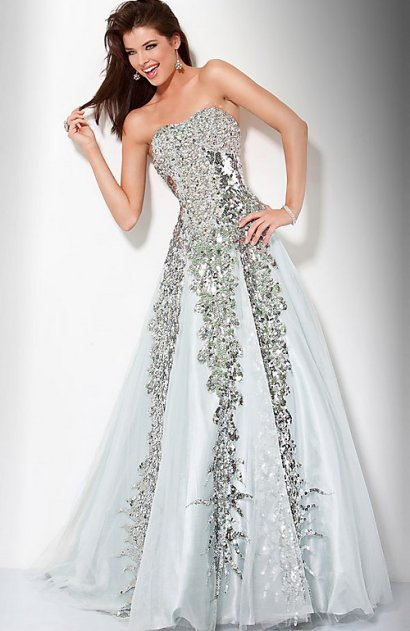 zářivé maturitní plesové šaty Yvette stříbrné - plesové šaty ... 38837dbfc77